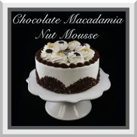 Chocolate Macadamia Nut Mousse Cake