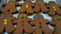 Gingerbread Boys with M&Ms