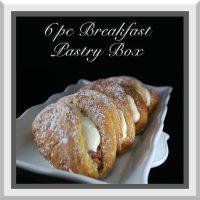 6 PC Breakfast Pastry Box