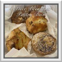 4 PC Breakfast Pastry Box
